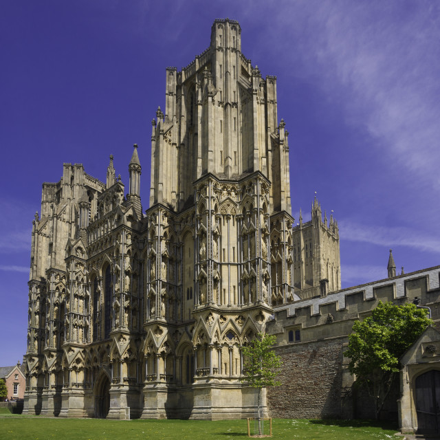 """""""Wells Cathedral, Somerset"""" stock image"""