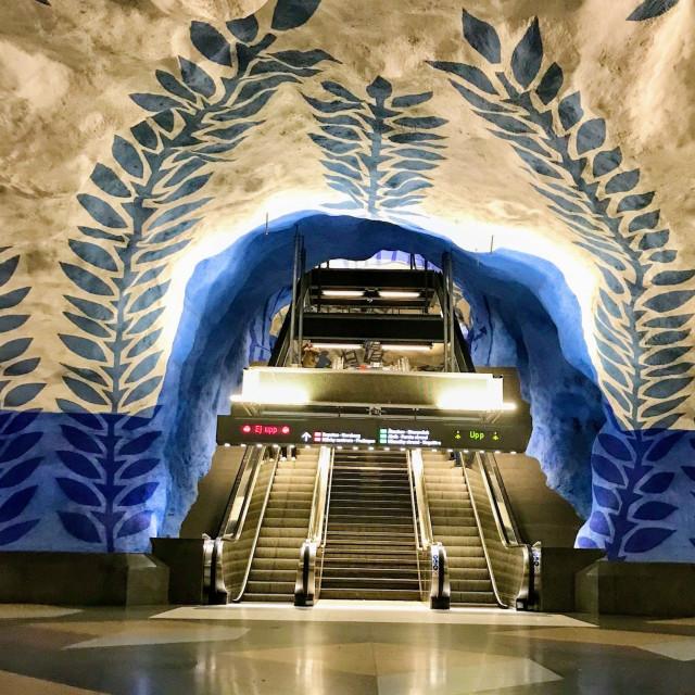 """Stockholm subway"" stock image"