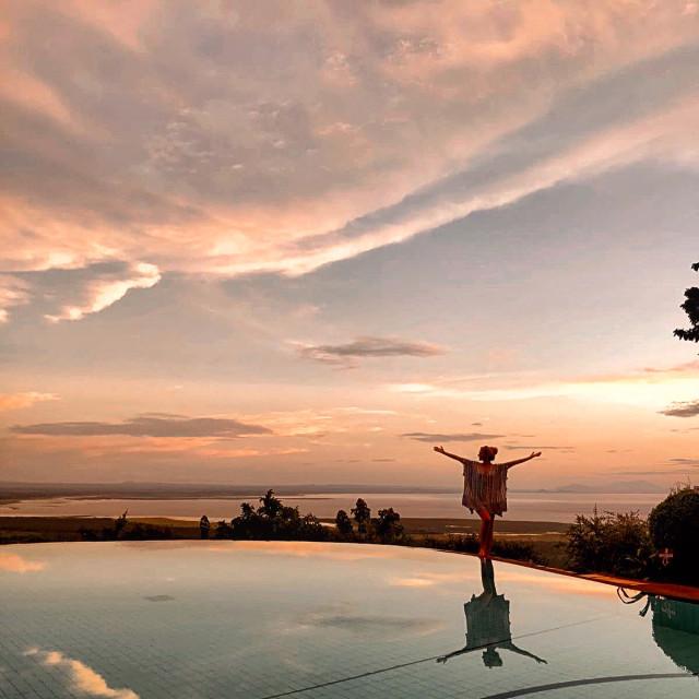 """""""Lake Manyara Sunset"""" stock image"""