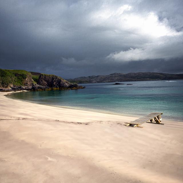 """Handa Island Beach, Scottish Highlands"" stock image"