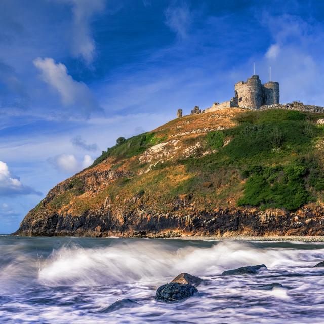"""Criccieth castle, Wales UK."" stock image"