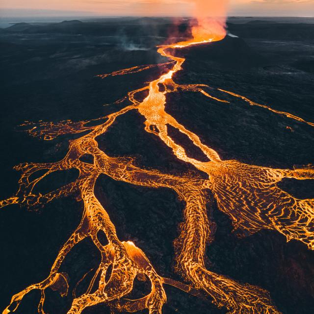 """""""Icelandic Eruption"""" stock image"""