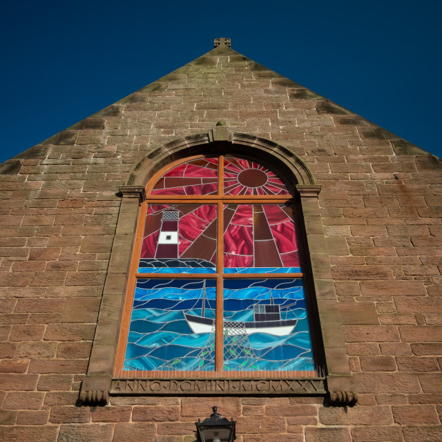 """""""Stained glass seascape"""" stock image"""