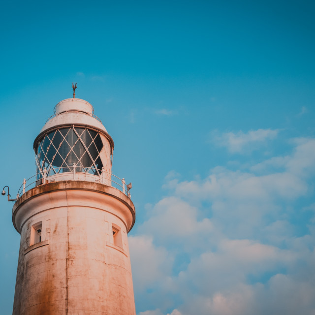 """""""Summer glow at St. Mary's Lighthouse, North Tyneside"""" stock image"""