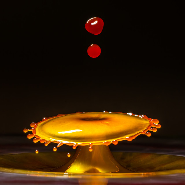 """""""Coloured water-drops."""" stock image"""