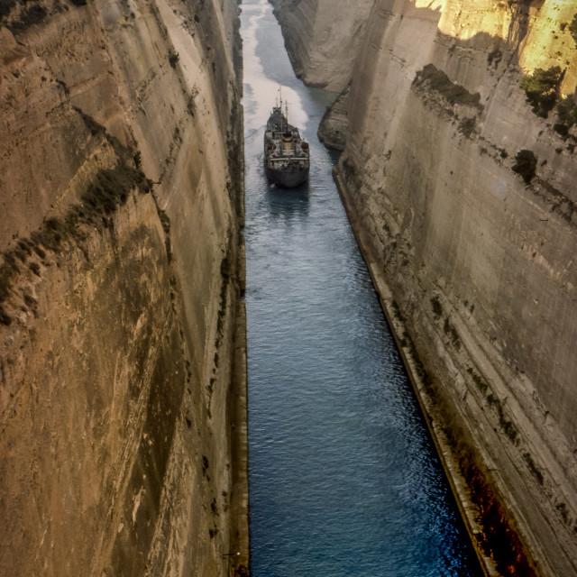 """Corinth Canal"" stock image"
