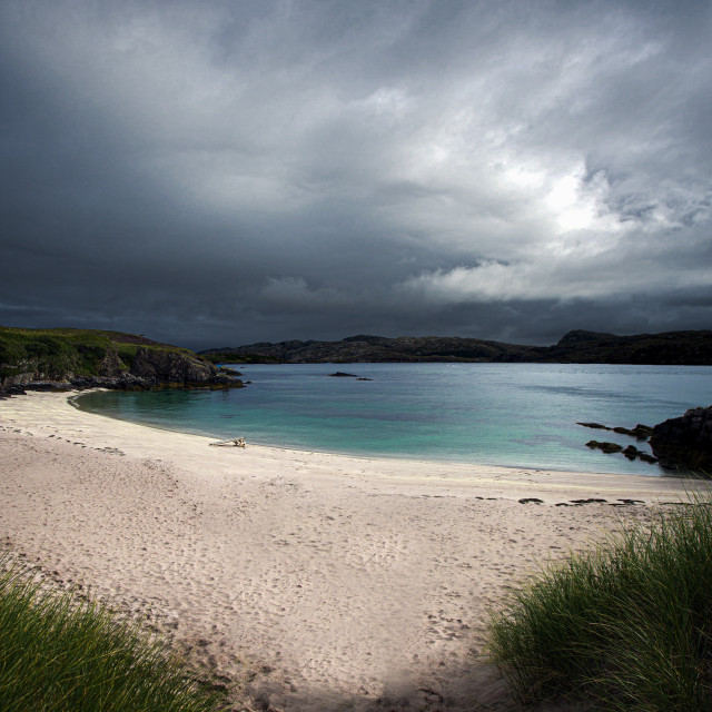 """Handa Island Beach, North West Highlands"" stock image"