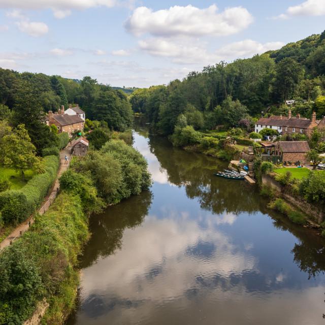 """""""Ironbridge Gorge, Shropshire"""" stock image"""
