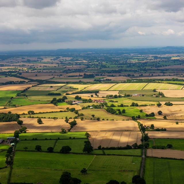 """Shropshire from the Wrekin"" stock image"