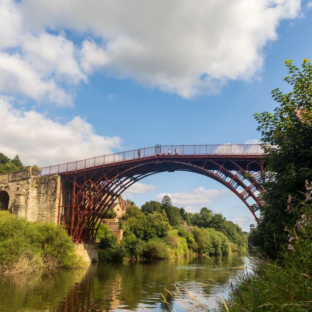 """""""The Ironbridge"""" stock image"""