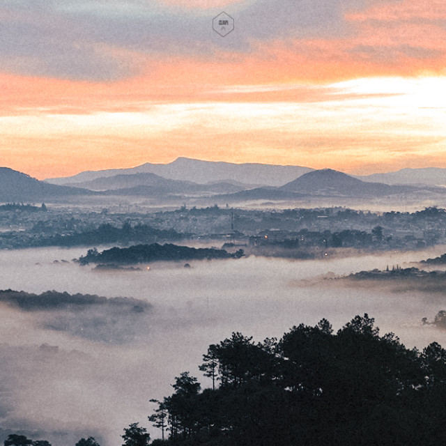 """Morning in Dalat City"" stock image"