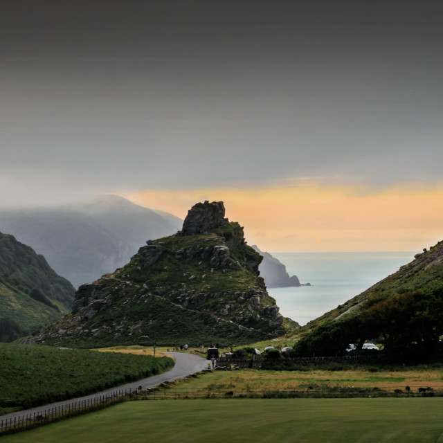 """""""Valley of Rocks"""" stock image"""