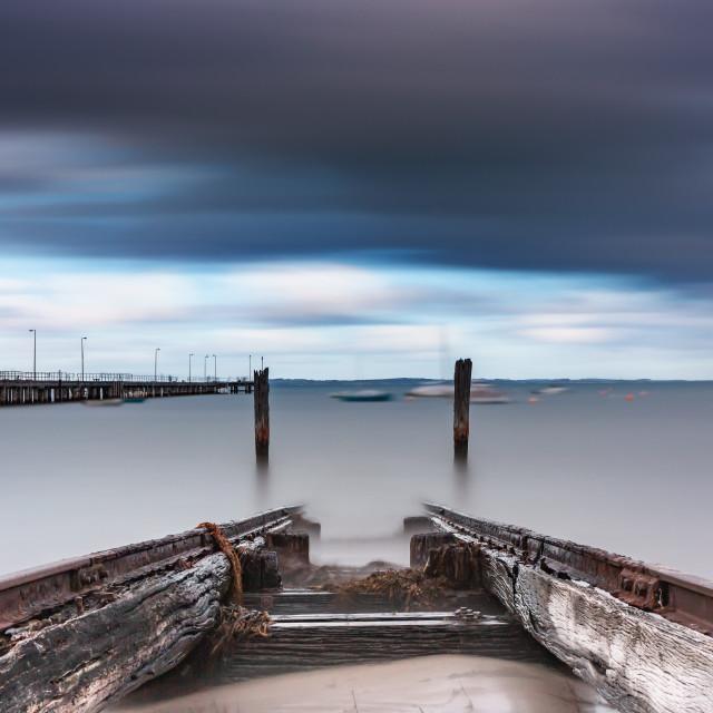 """Flinders Boat Ramp, Victoria"" stock image"