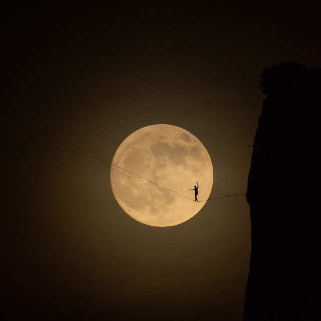 """""""A man on the moon 1"""" stock image"""
