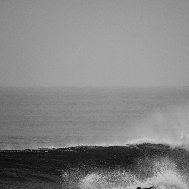 """""""Surf Black and White"""" stock image"""