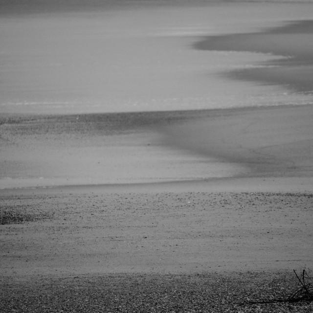 """sand beach black and white"" stock image"