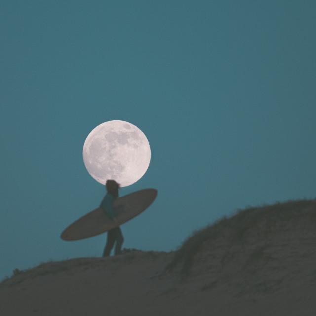 """Full Moon Surf"" stock image"