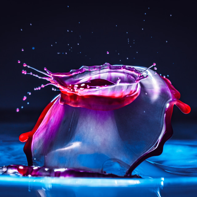 """Colourful water splash."" stock image"