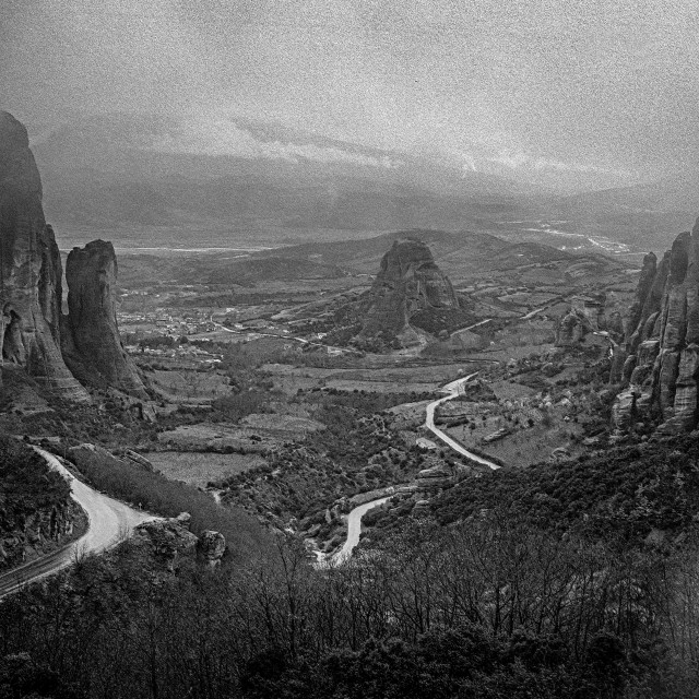 """Meteora monasteries & valley"" stock image"