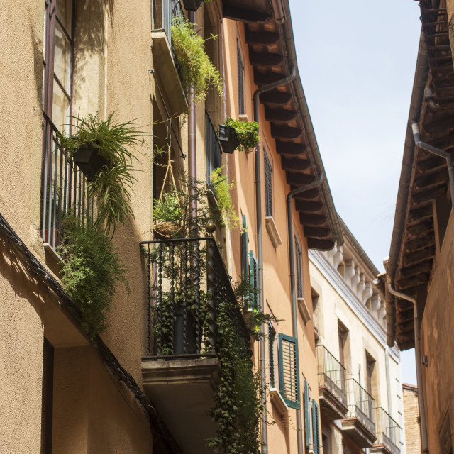 """""""Architectural view of Vic, Catalunya"""" stock image"""