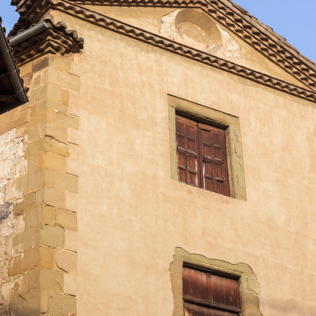 """""""Architectural details of Vic, Catalunya"""" stock image"""