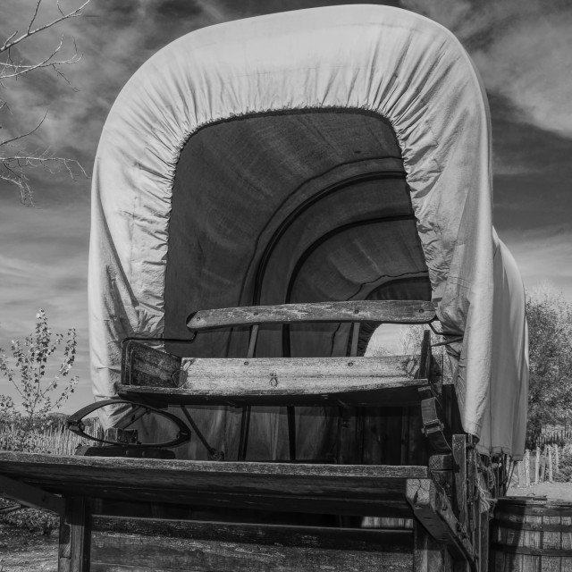 """""""The Covered Wagon"""" stock image"""