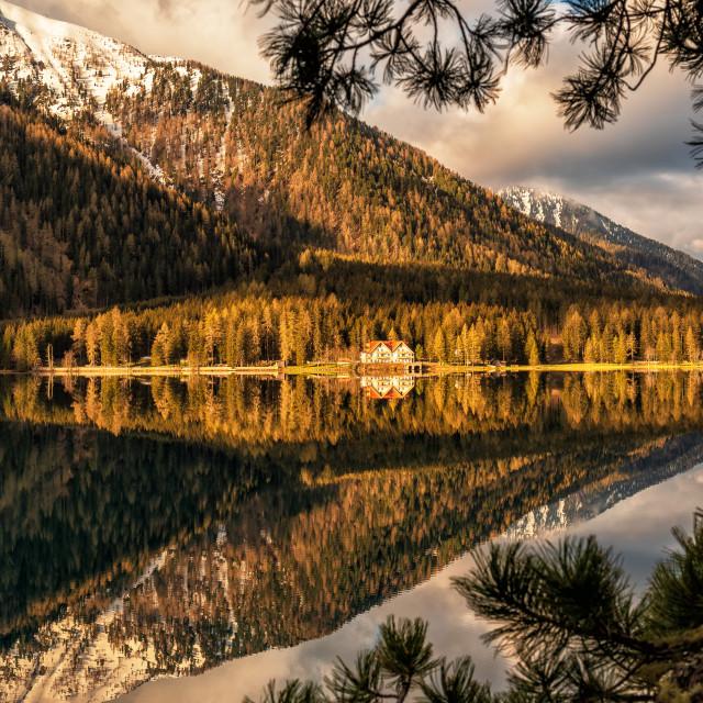"""Anterselva Lake-Dolomites"" stock image"