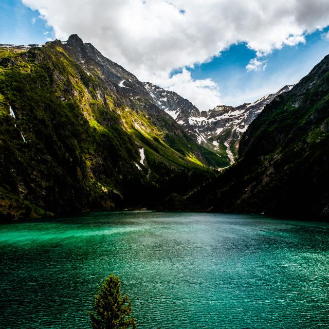 """""""Lac du Lauvitel, France"""" stock image"""
