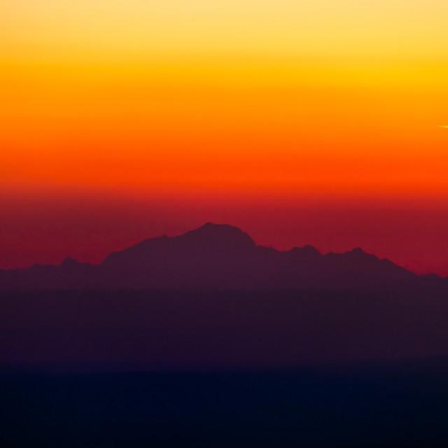 """""""Le Mont Blanc, France"""" stock image"""