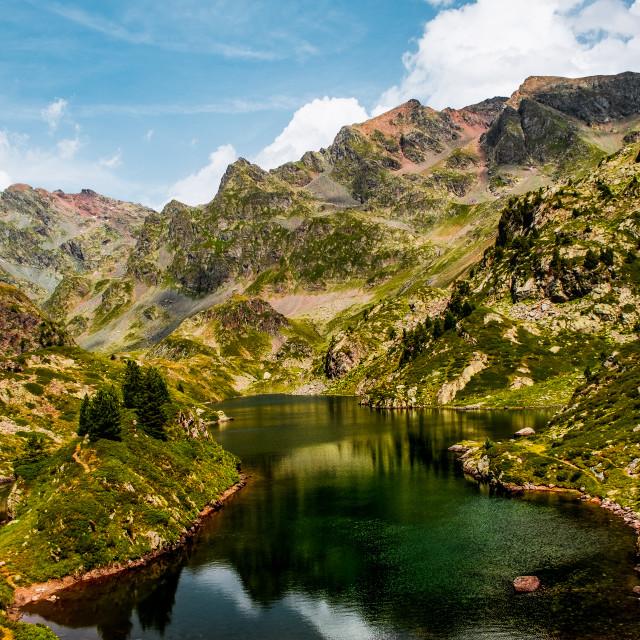 """""""Lac Longet, France"""" stock image"""