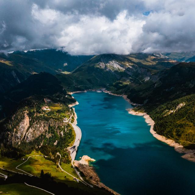 """Lac de Roselend, France"" stock image"