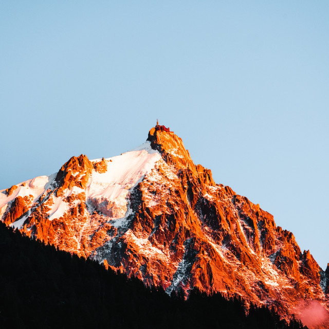 """""""Aiguille du Midi, France"""" stock image"""