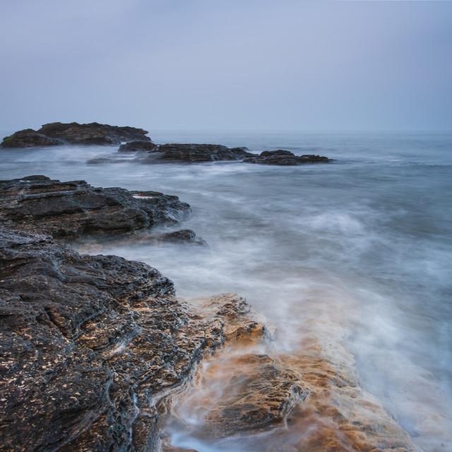"""Shallow seas at Cornelian Bay"" stock image"