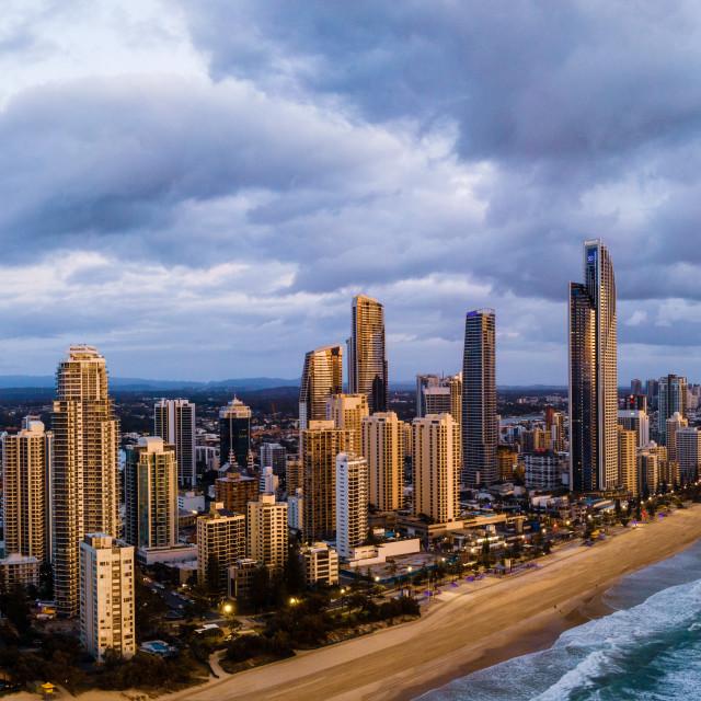 """""""Gold Coast - Sunrise"""" stock image"""