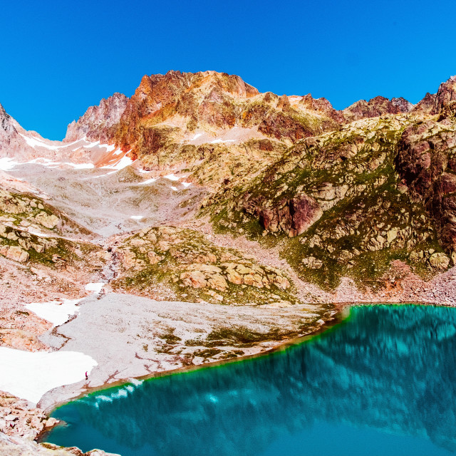 """Le Lac Blanc, France"" stock image"