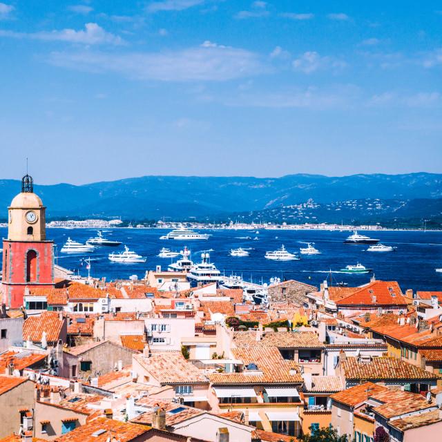 """Saint Tropez, France"" stock image"