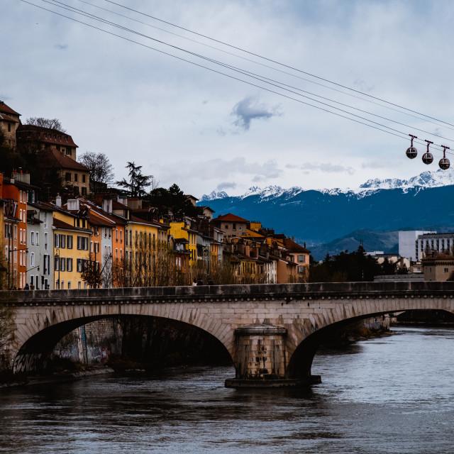 """Grenoble, France"" stock image"