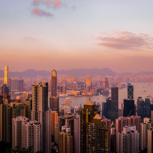 """Victoria Peak, Hong Kong"" stock image"