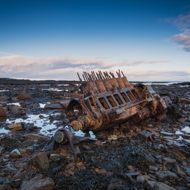 """Low tide shipwreck revelations"" stock image"