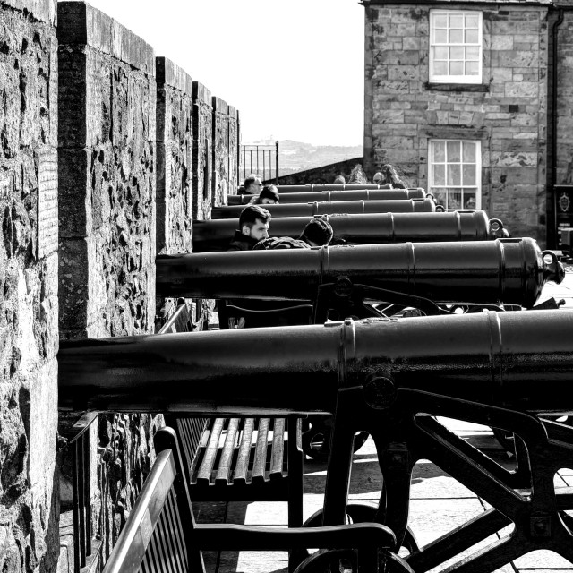 """""""Cannons At The Ready"""" stock image"""