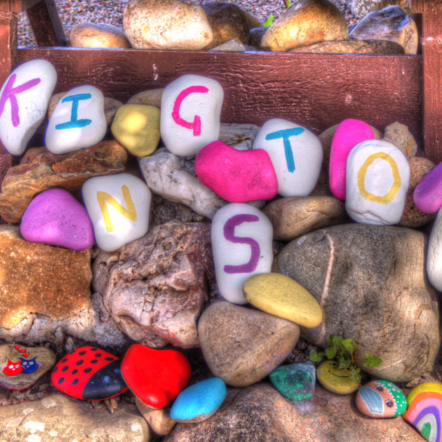 """""""A Mosiac Of Lettered Stones"""" stock image"""