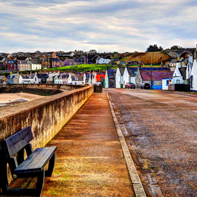 """""""Sturdy Cottages Of Seatown"""" stock image"""