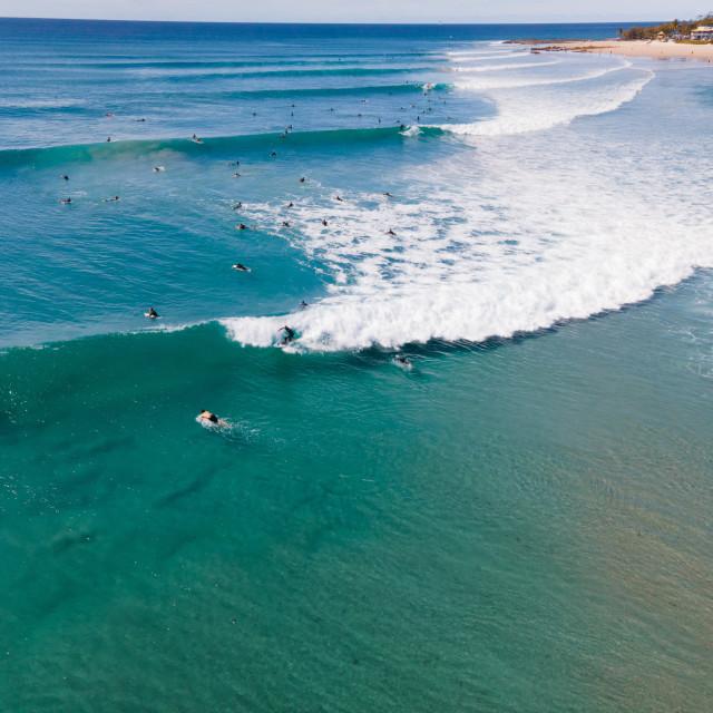 """Coolangatta Surfing"" stock image"