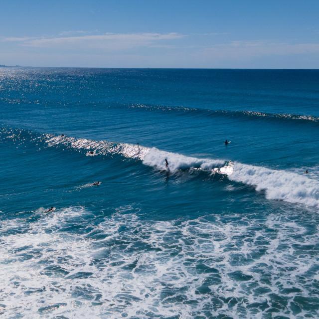 """Coolangatta Surfers"" stock image"
