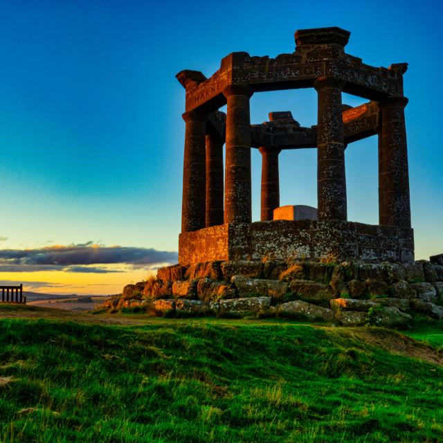 """""""Stonehaven War Memorial - September Sunset"""" stock image"""