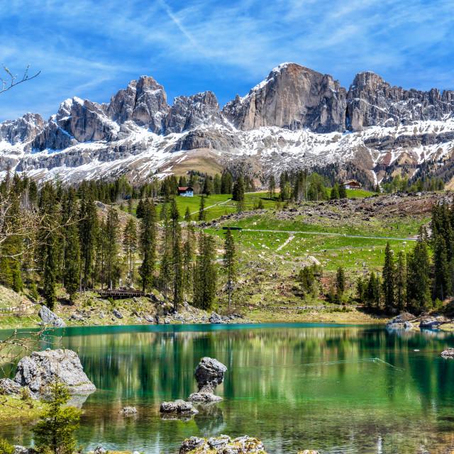 """Carezza Lake"" stock image"