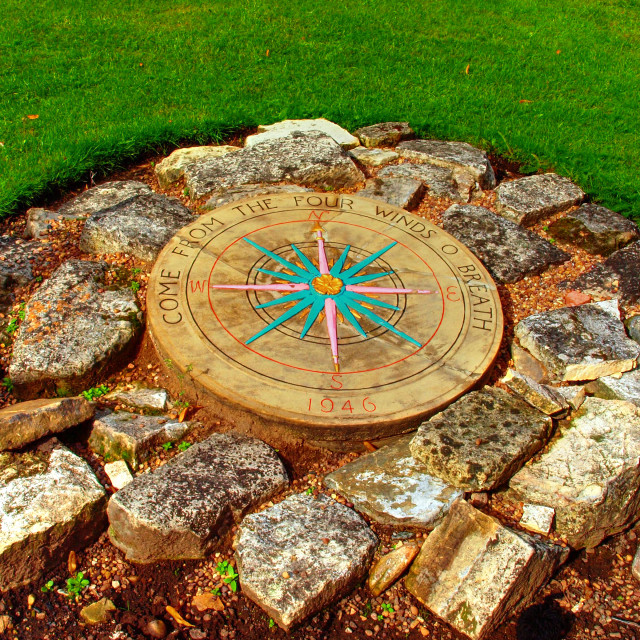 """""""Station Road Compass"""" stock image"""