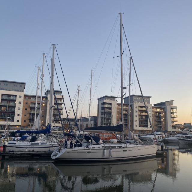 """""""Marina Boats"""" stock image"""