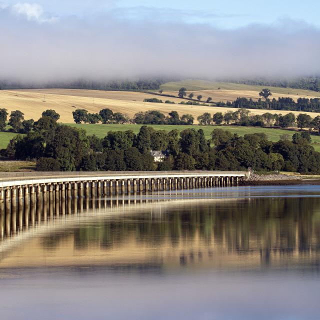 """Cromarty Bridge, Early Morning"" stock image"