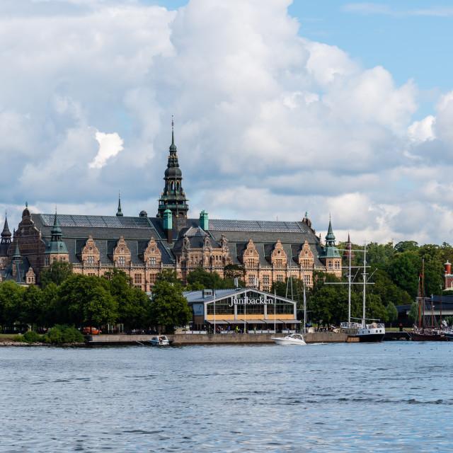 """""""Nordiska Museum in Alberget in Stockholm, Sweden"""" stock image"""